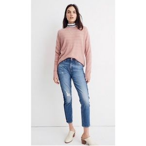 Madewell 100% Cashmere Pale Pink Sweater